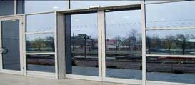 Автоматические алюминиевые раздвижные двери