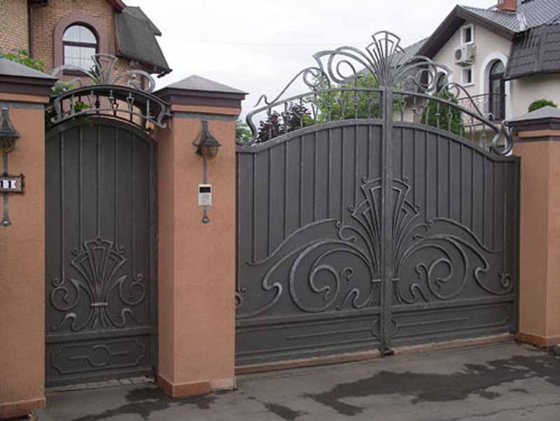 Металлические ворота и металлические калитки город Пермь