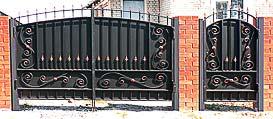 Металлические ворота и калитки