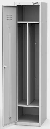 Шкаф для одежды ШРС 11-400 с перегородкой в Перми