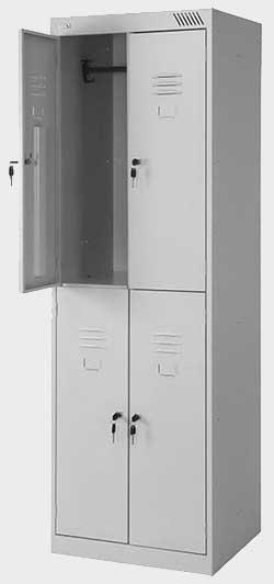 Шкаф металлический для одежды ШРК 24-600 в Перми КУПИТЬ