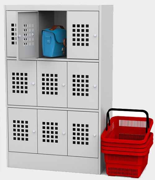 Купить металлический шкаф для ручной клади ШМ 33-30 в Перми