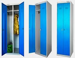 Шкафы металлические для раздевалок в Перми. Железные шкафы для одежды Пермь