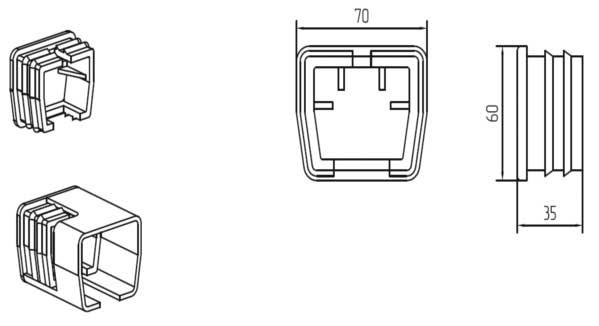 Заглушка для балки SGN.01.600 Alutech Алютех